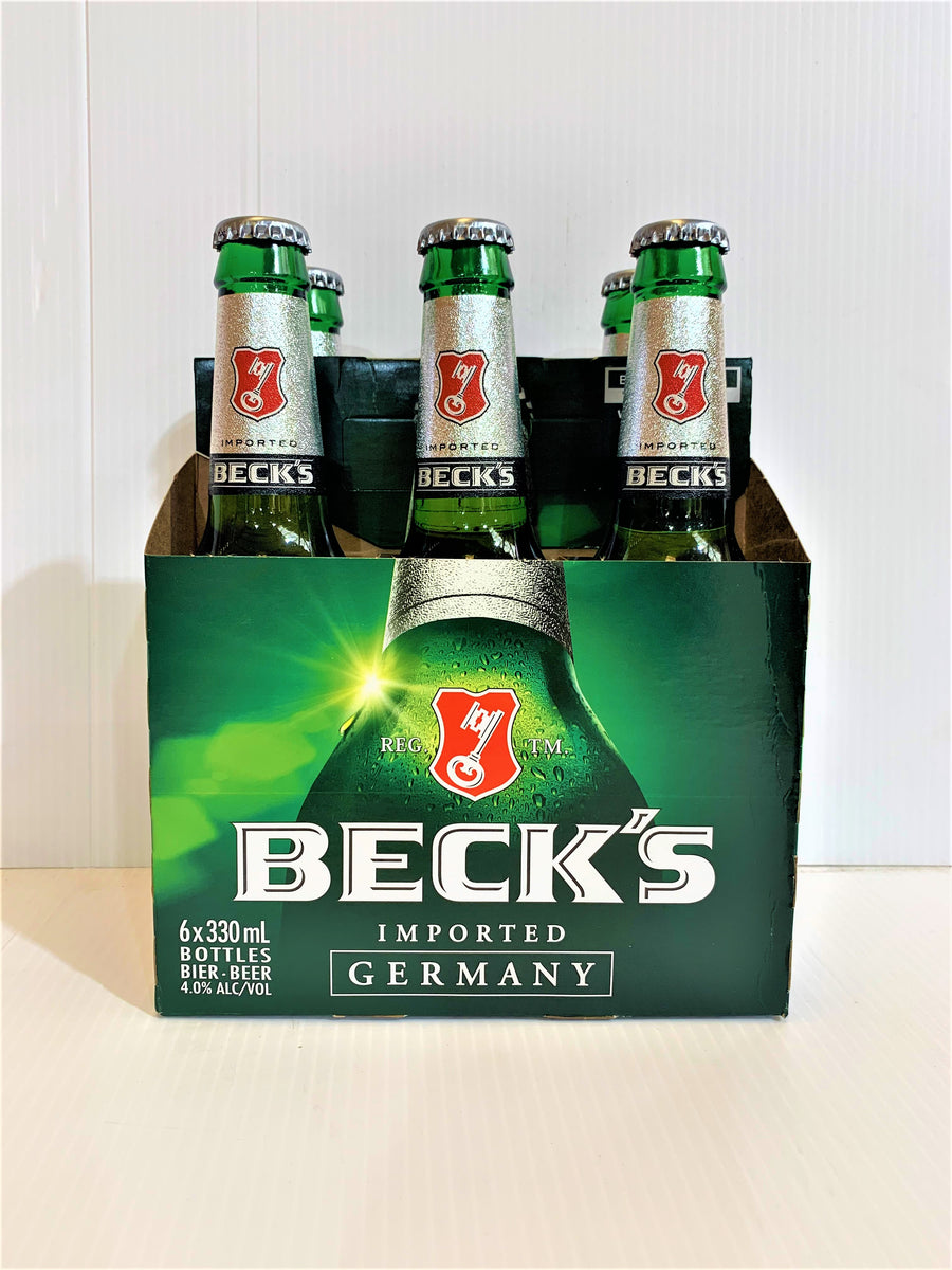 Becks - Lager Bottle 330ml (Imported) - 6 Pack