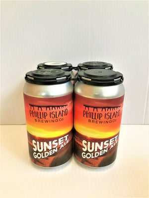 Phillip Island - Sunset Golden Ale 375ml Can - 4 Pack