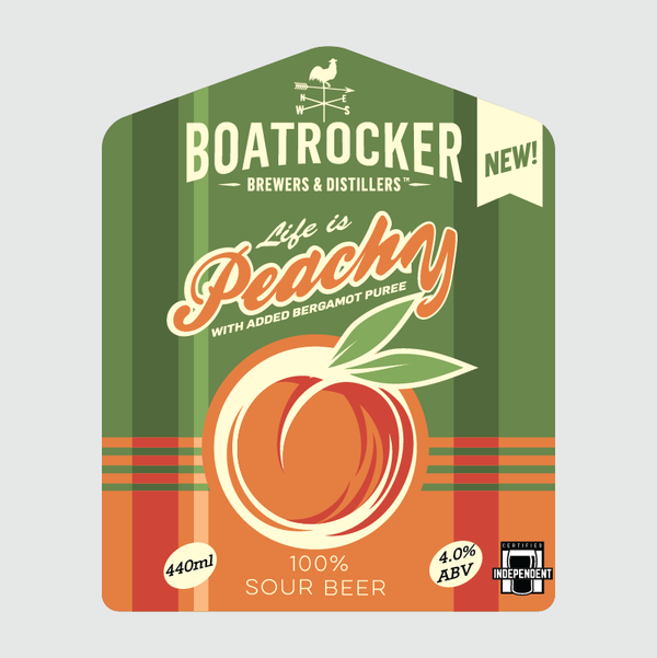 Boatrocker - Life is Peachy Sour Beer - 440ml Can