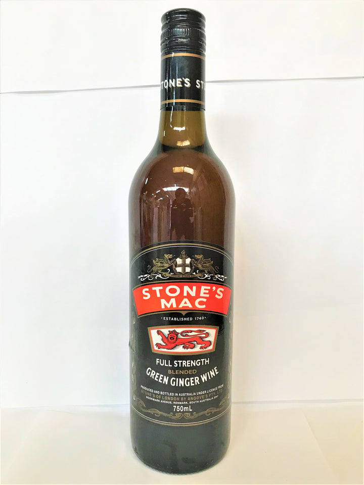 Stone's Mac - Full Strength Green Ginger Wine 750ml Bottle - Single