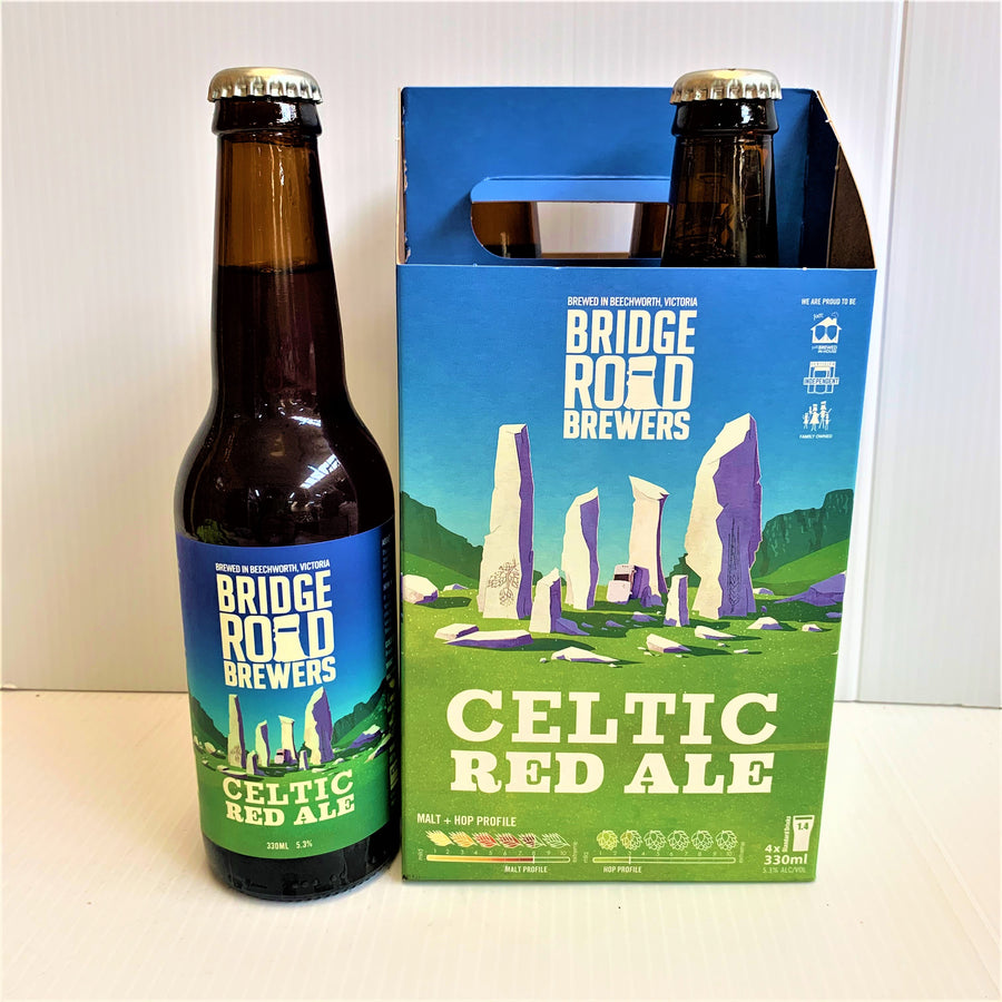 Bridge Road Brewers - Celtic Red Ale - 330ml Stubbie - 4 Pack