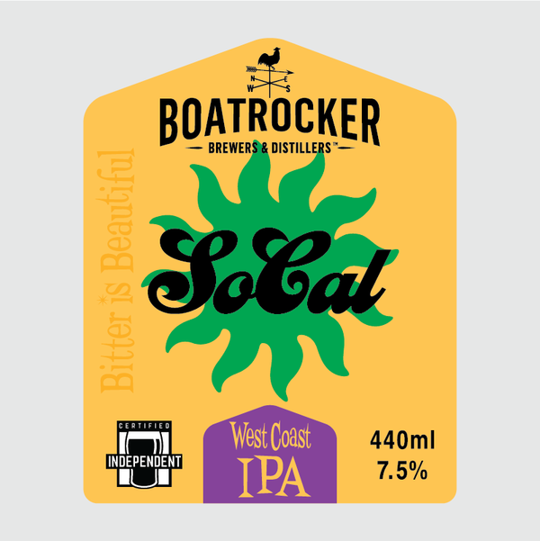 Boatrocker - SoCal West Coast IPA - 440ml Can
