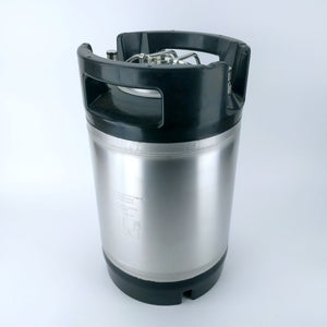 9.5L Ball Lock Keg with rubber base and handle