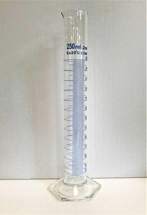 250ml Measuring cylinder with (2ml Graduations)