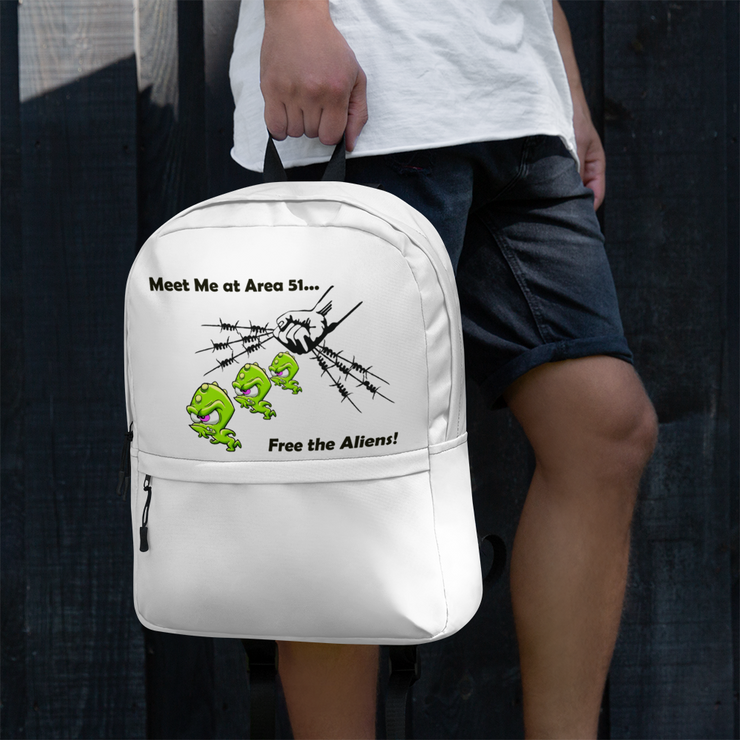 "Alien Wear Backpack - ""Free the Aliens"""