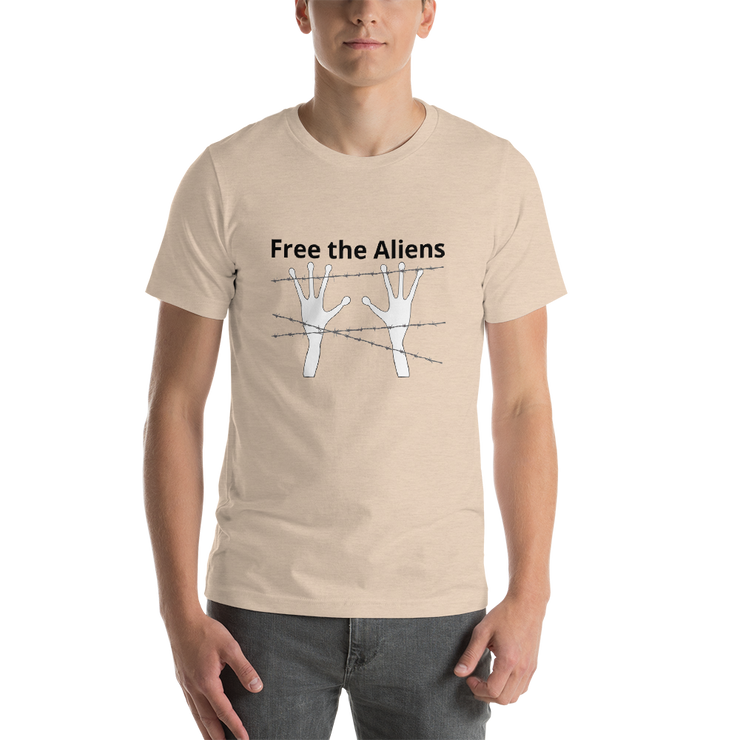 "Alien Wear Short-Sleeve Unisex T-Shirt - ""Free the Aliens"""