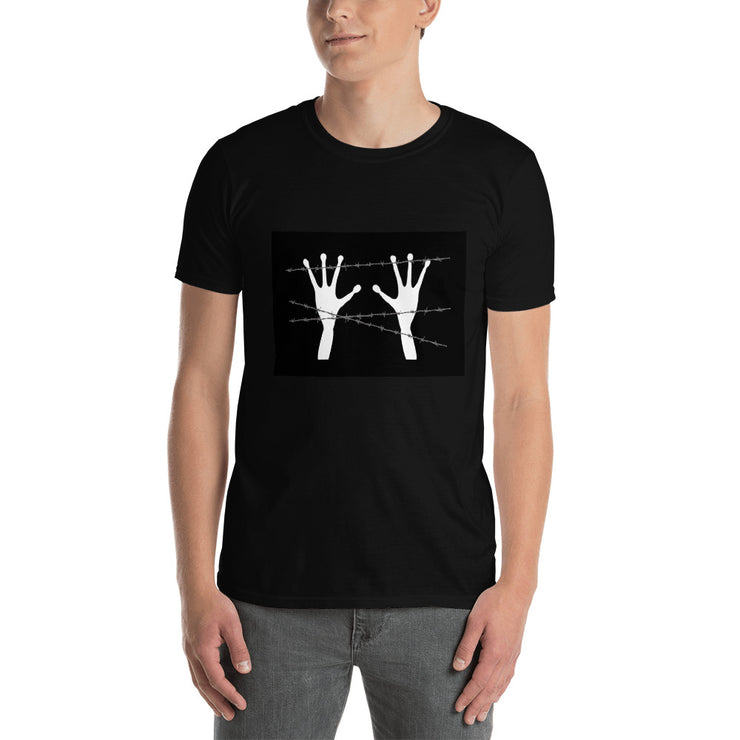 "Alien Wear Short-Sleeve Black Unisex T-Shirt - ""Free the Aliens"""
