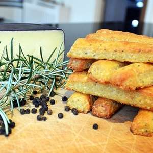 Black Pepper and Rosemary Cheese Straws
