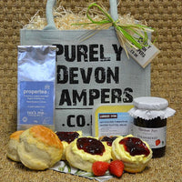 Cream Tea Jute Bag Gift Hamper