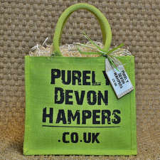 Large Green Jute Bag (max 12 items)