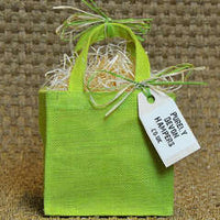 Small Green Jute Bag (max 5 items)