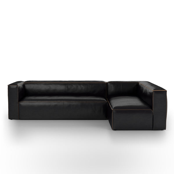 NOLITA SECTIONAL- 2 PIECE LAF BLACK