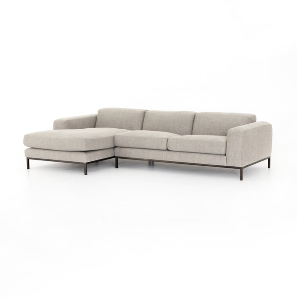 BENEDICT 2-PIECE SECTIONAL- GABARDINE GREY LC