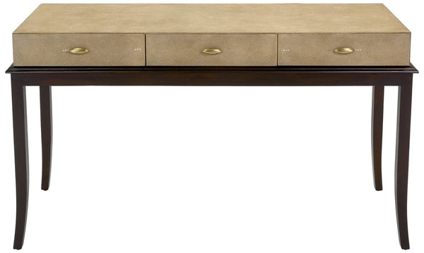 Slade Faux Shagreen Console Table