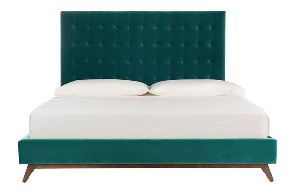Andrew Velvet Tufted King Bed