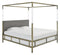 Aiden Acrylic Canopy Bed - King Gold/Grey