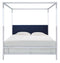 Aiden Acrylic Canopy Bed/ Navy (King)