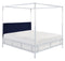 Aiden Acrylic Canopy Bed/ Navy (Queen)