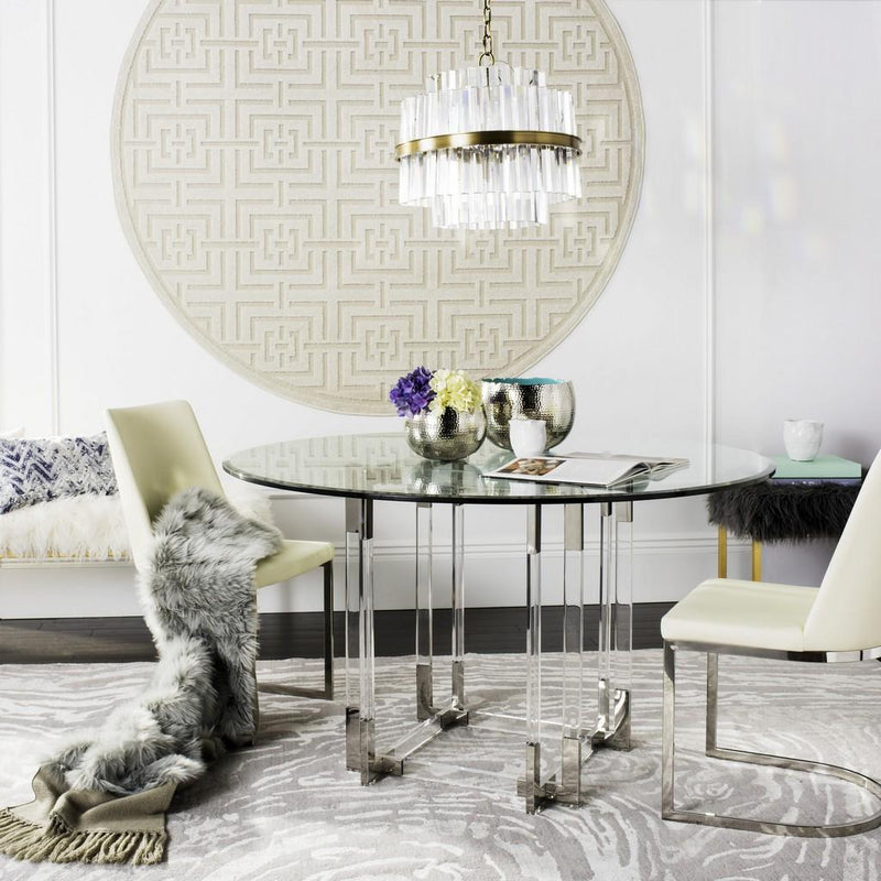 "Keegan 54"" Acrylic Dining Table"