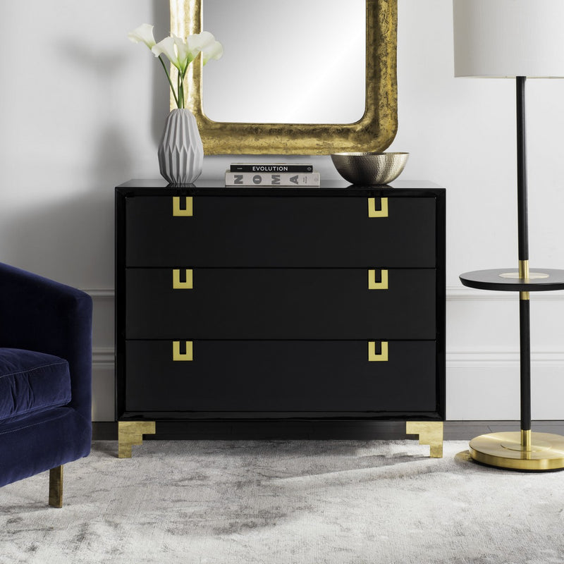 Tatum Lacquer Chest Of Drawers
