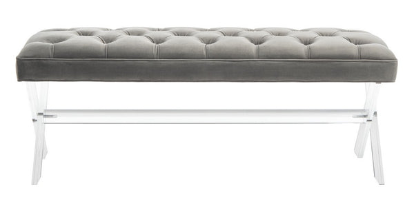 Fitz Tufted Acrylic Bench