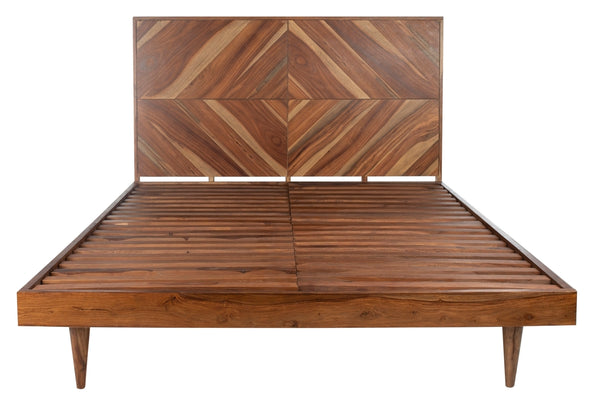 Coy Herringbone Bed- Queen