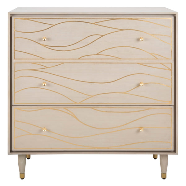 Sawyer Antique Gold Wave Chest