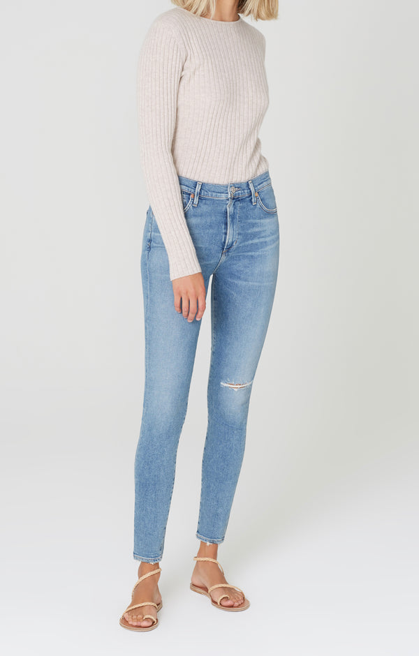 rocket mid rise skinny fit keeper front