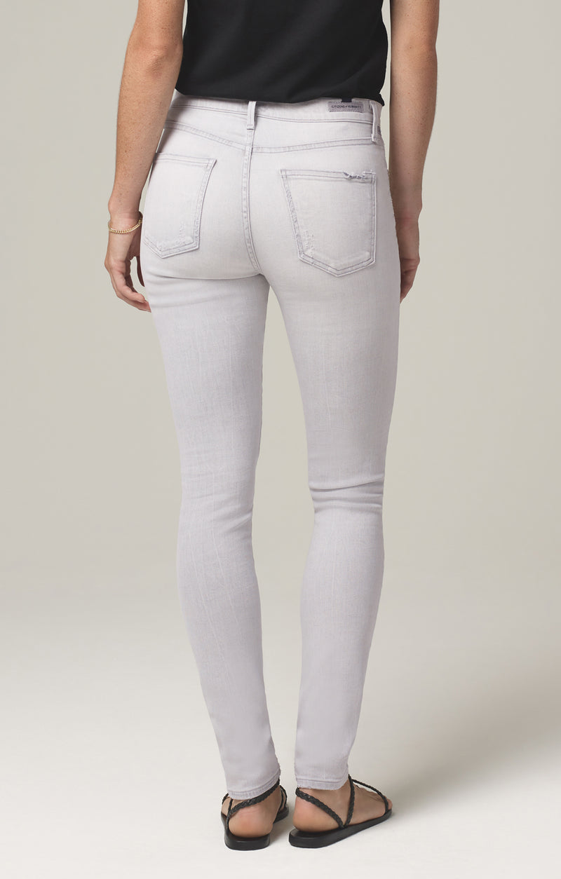 rocket crop mid rise skinny fit grey marble back