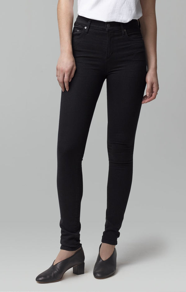 rocket mid rise skinny fit all black back