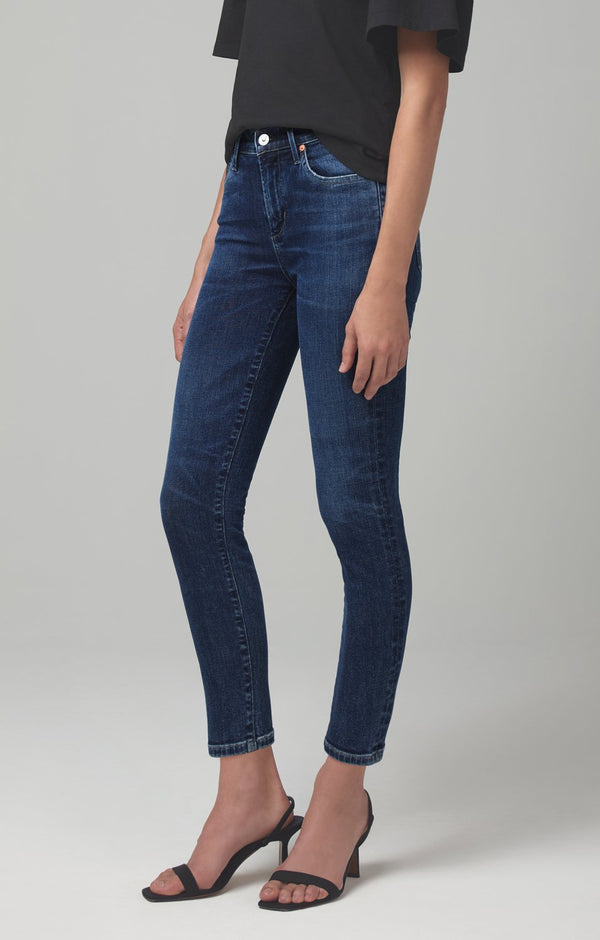 rocket mid rise skinny fit alto back
