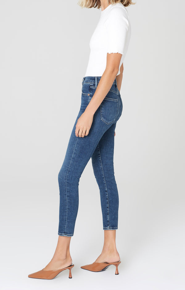 Rocket Crop Mid Rise Skinny Fit Alto Side