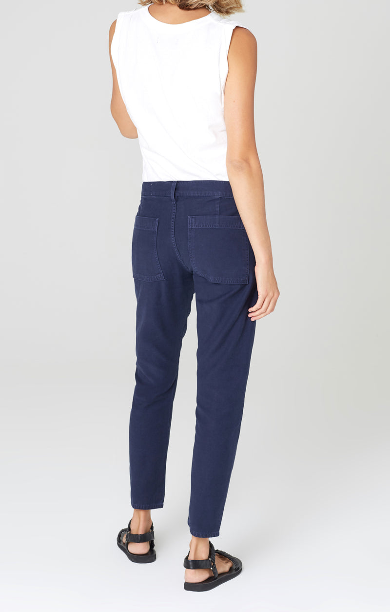 leah cargo pant washed navy back