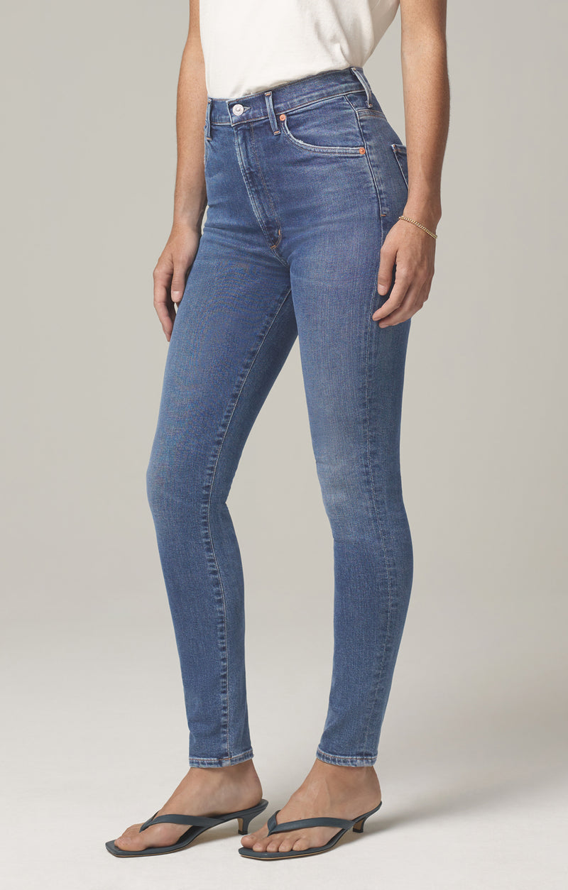 chrissy high rise skinny fit story side