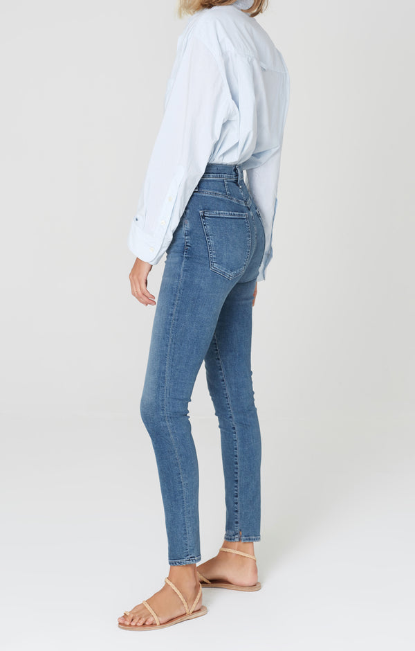 chrissy high rise skinny fit flicker side