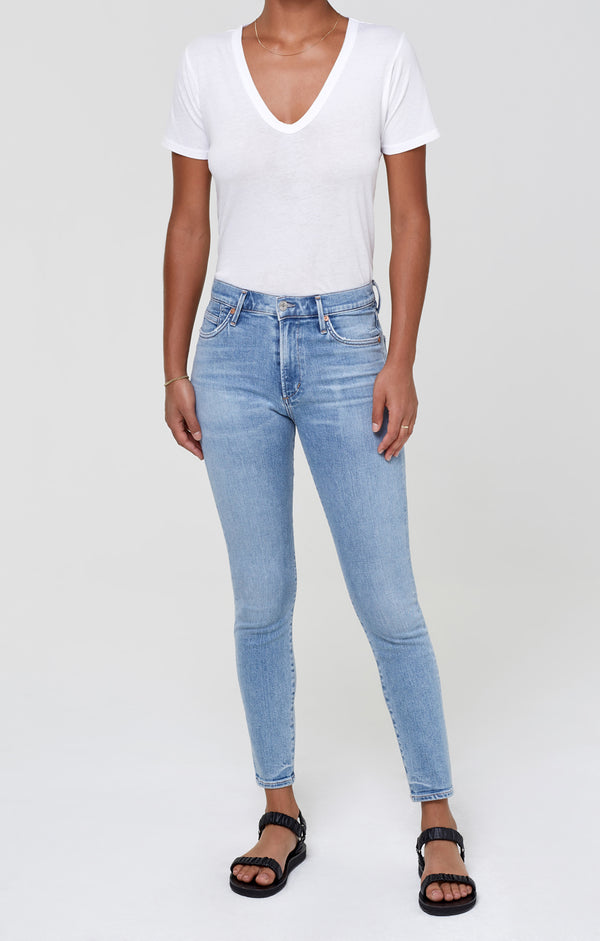 Rocket Ankle Mid Rise Skinny Paradiso Front