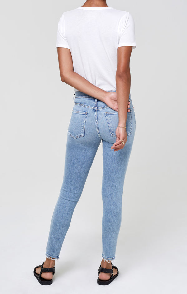 Rocket Ankle Mid Rise Skinny Paradiso Back