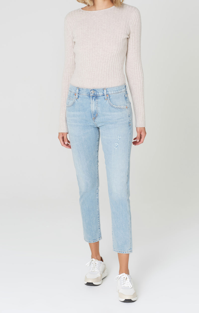 elsa mid rise slim fit crop try me front