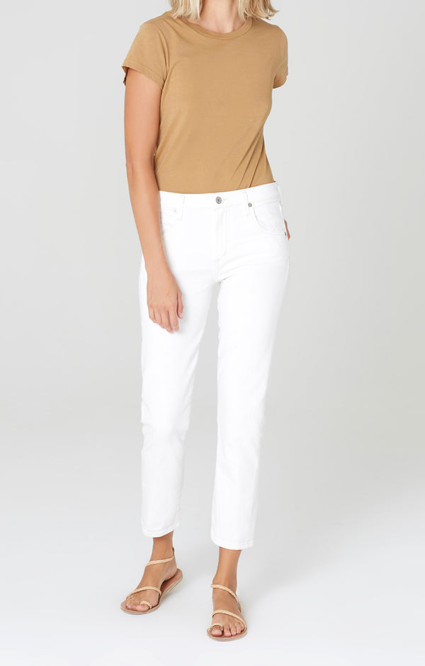 elsa mid rise slim fit crop sea salt front