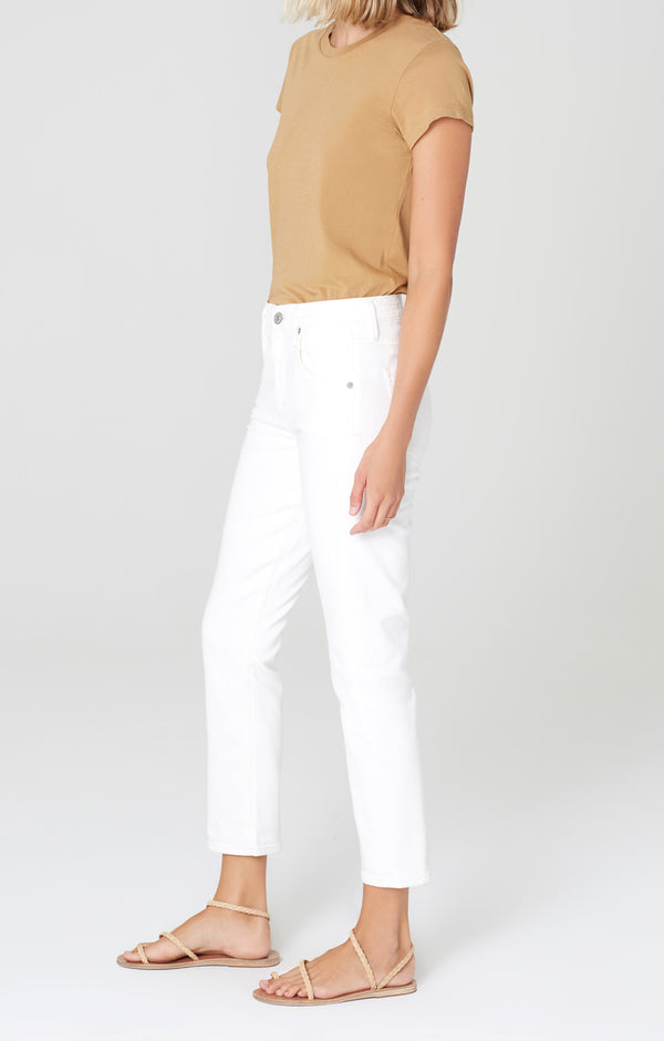 elsa mid rise slim fit crop sea salt side