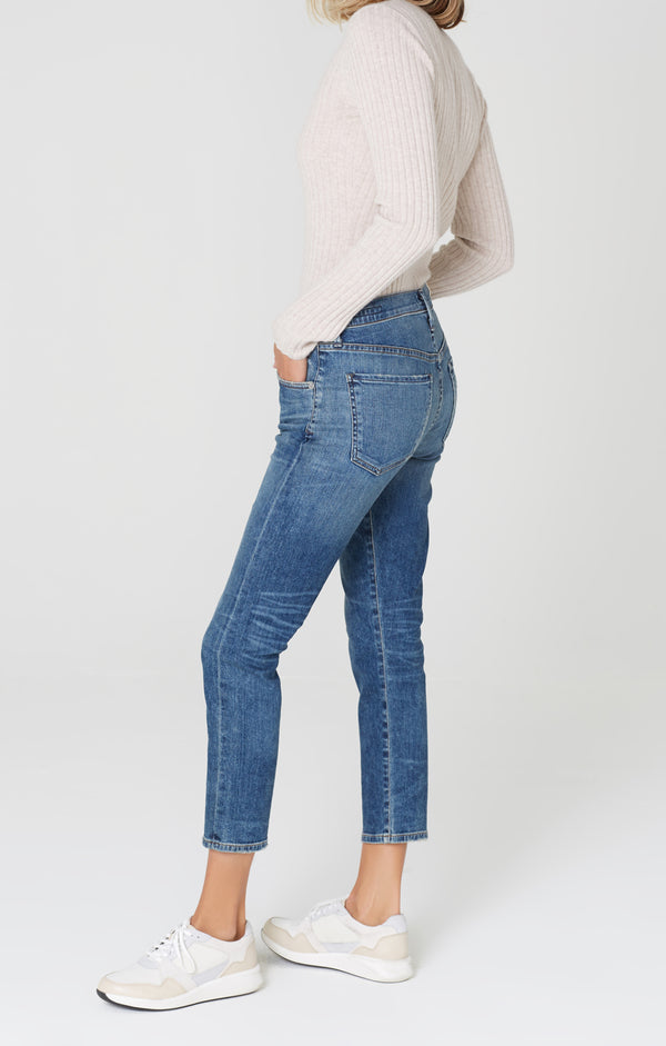 Elsa Mid Rise Slim Fit Crop Dossier side