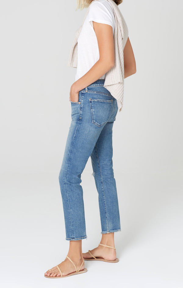 elsa mid rise slim fit crop cadence side