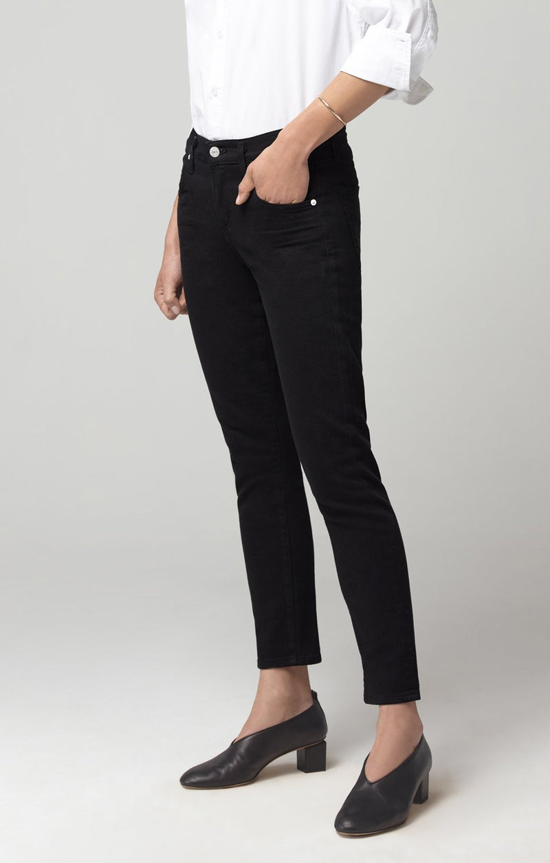 elsa mid rise slim fit crop black back