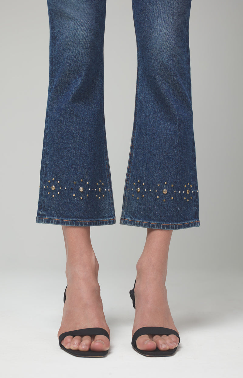 demy cropped flare gleams stud back