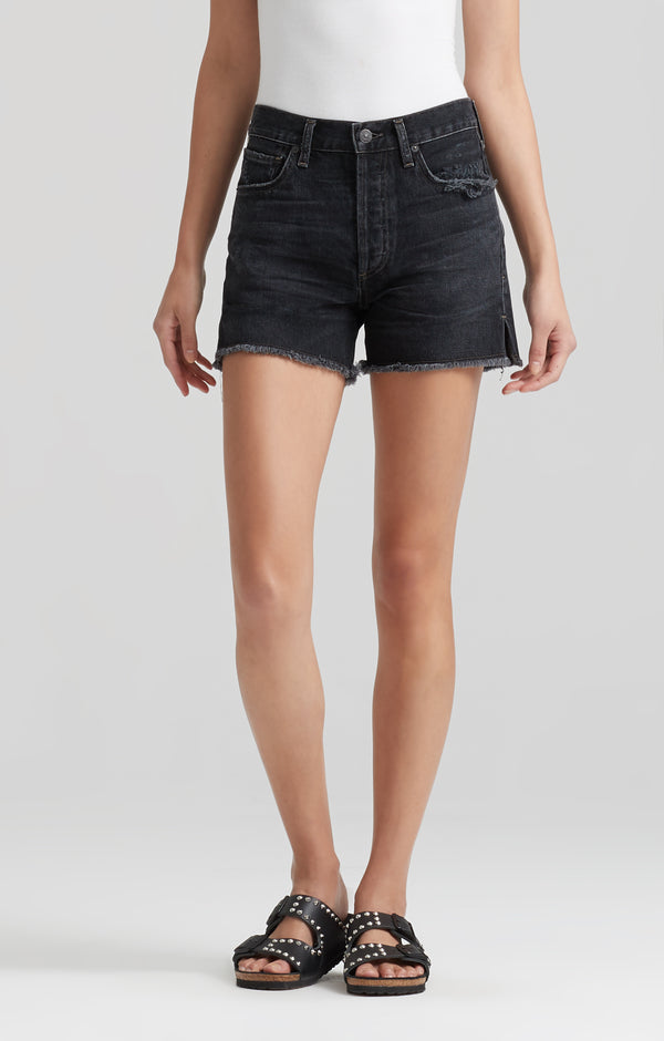 nikki high rise short dark tempest front