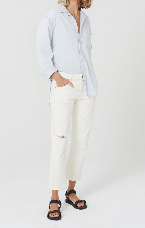 Emerson Crop Slim Boyfriend Lotus front