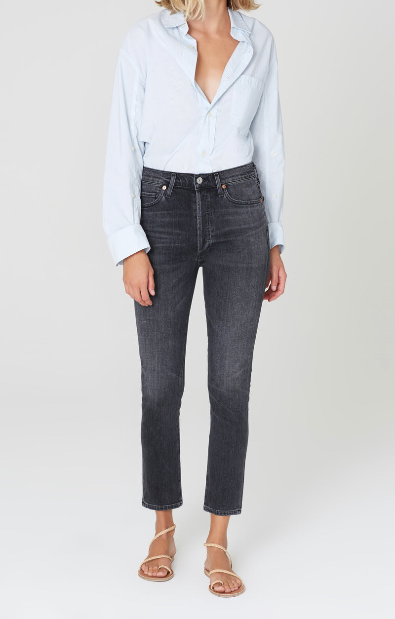 Olivia High Rise Slim Fit Wren front
