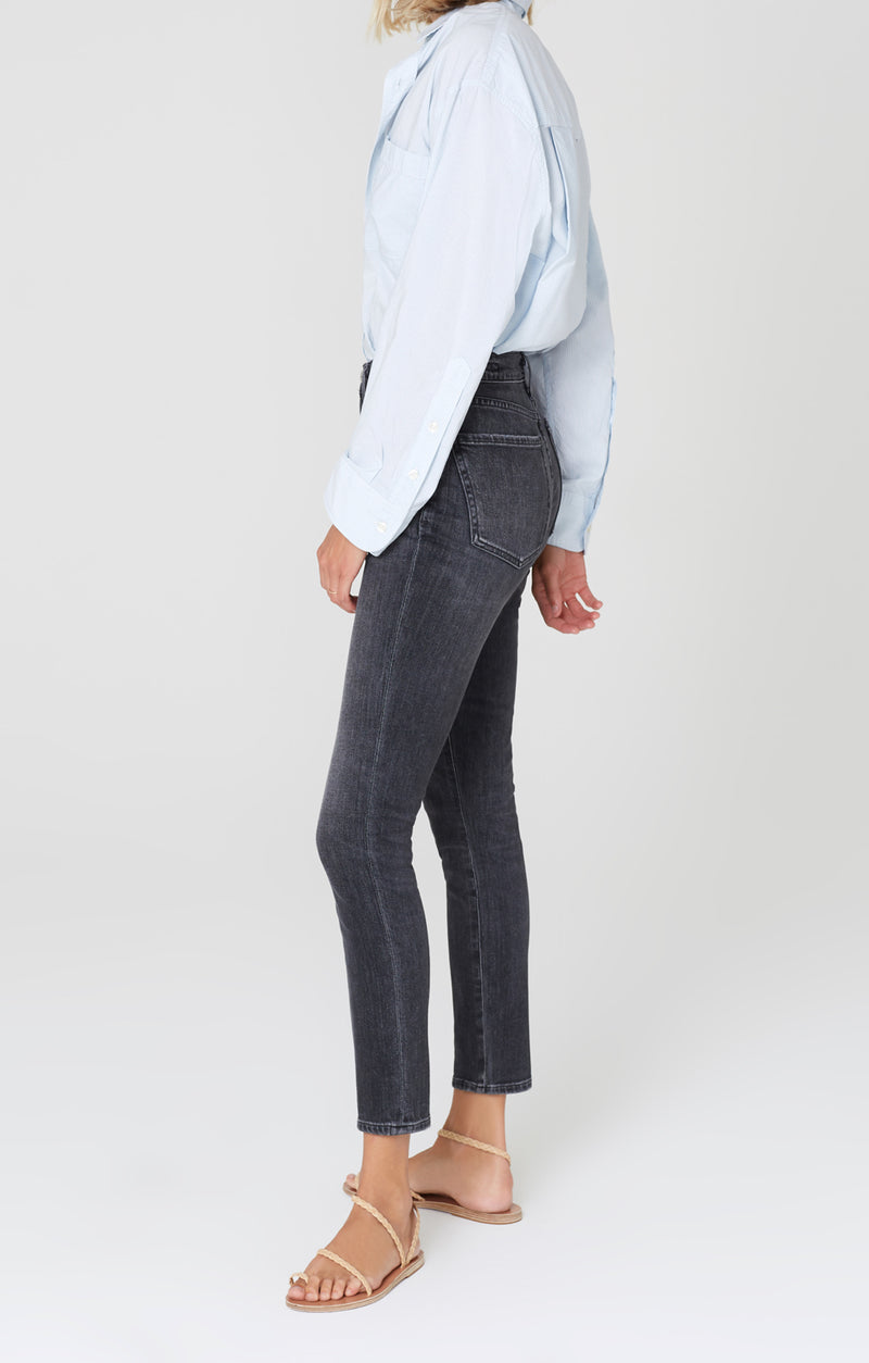 Olivia High Rise Slim Fit Wren side
