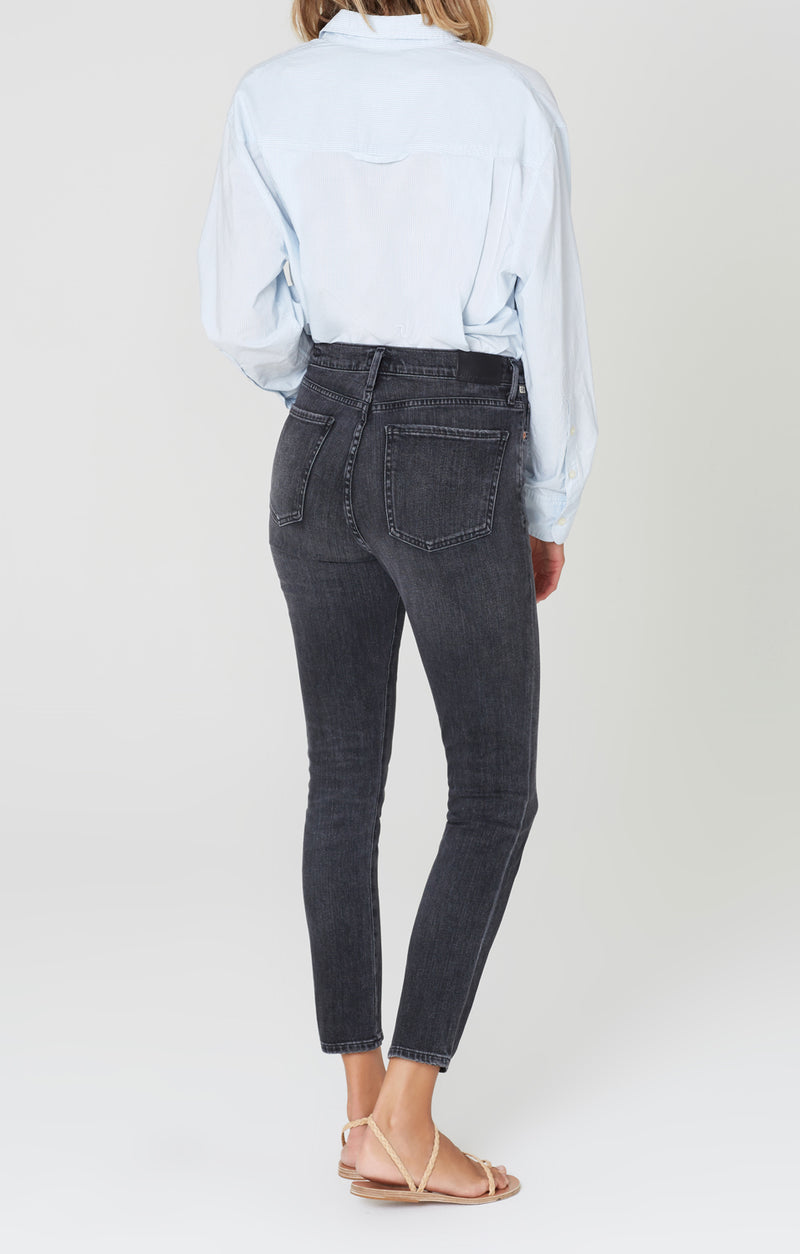 Olivia High Rise Slim Fit Wren back