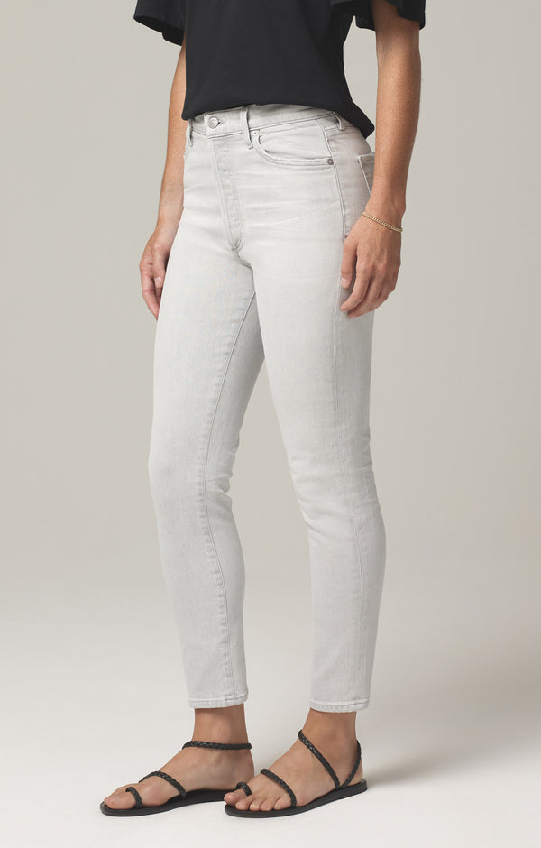 olivia high rise slim fit white pepper side